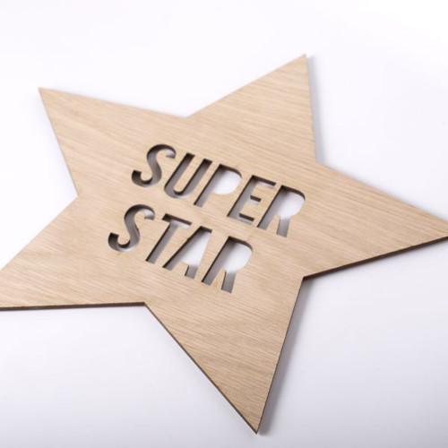 Super Star wooden wall sign