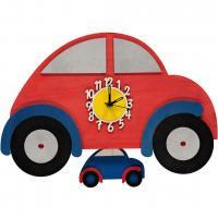 Personalised Car Train Wooden Pendulum Clock