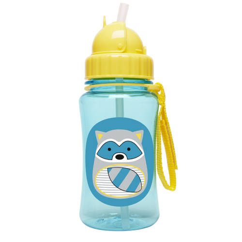 Skip Hop Straw Bottle Raccoon