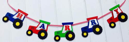 Little Timbers Wooden Tractor Garland