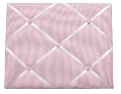 Pink Gingham Message Board - Childrens Bedroom