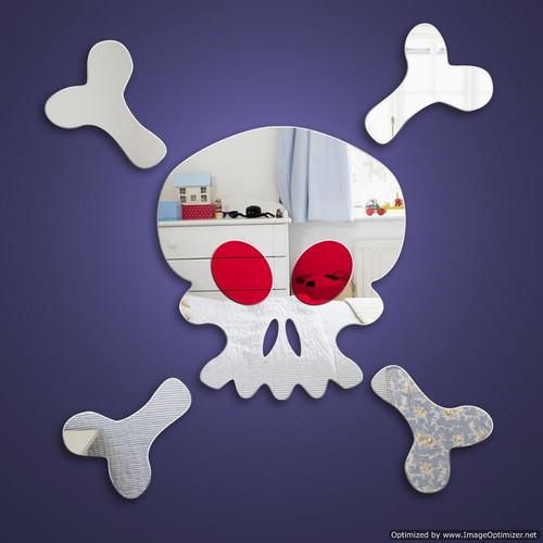 Childrens Mirrors - Skull and Crossbones Mirror