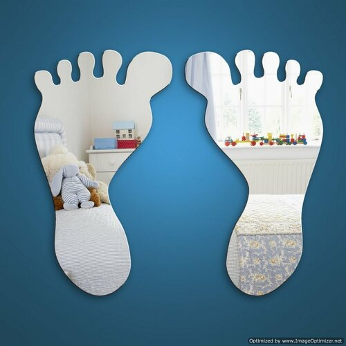 Childrens Mirrors - Baby Feet Mirror