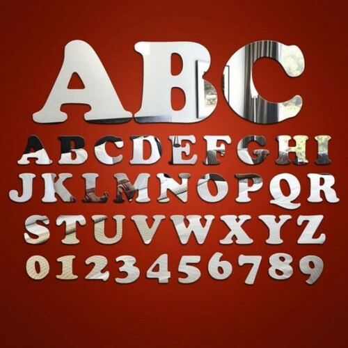 Childrens Mirrors - Giant Letters and Numbers Mirrors
