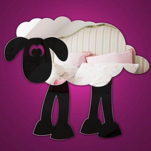 Childrens Mirrors - Nursery Sheep Mirror