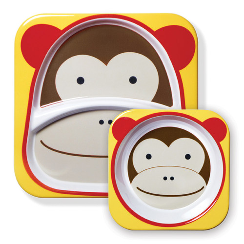 Skip Hop Zoo Monkey Plate and Bowl