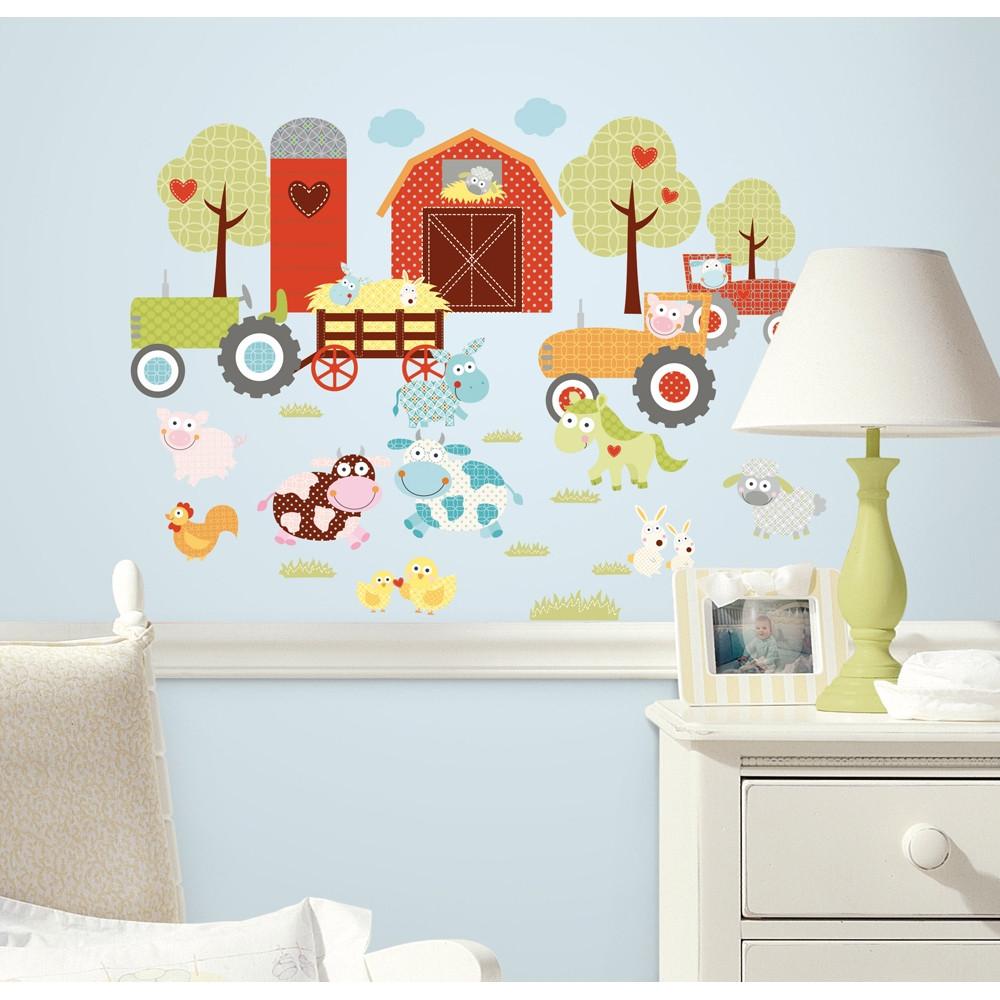 nursery wall stickers happy barnyard room mates