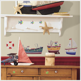 Room Mates Stickers - Ship Shape - Kids Wall Stickers