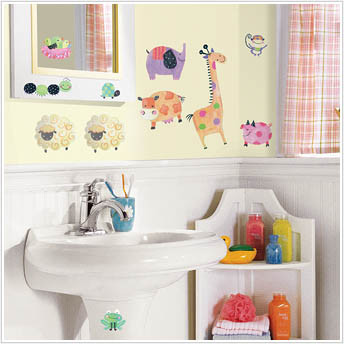Room Mates Stickers - Polka Dot Piggy - Kids Wall Stickers