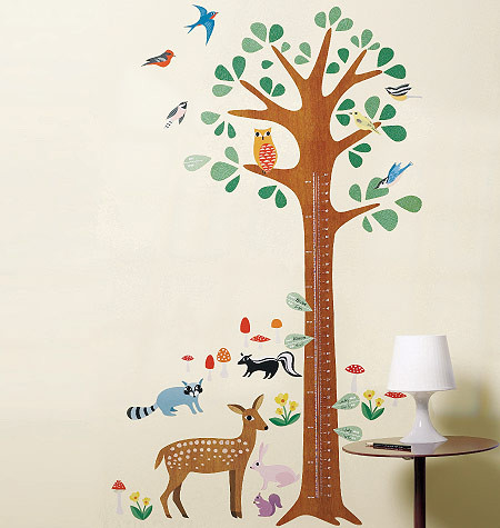 Children's Wall Stickers - Wallies - Woodland Growth Chart