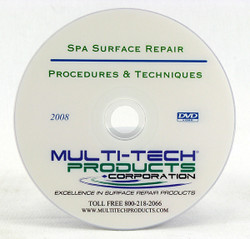 DVD featuring Procedures and Techniques for Spa Surface Repair.
