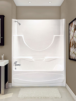 Acrylic Bath Tub Shower Combo