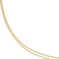 """Anna"" Classic Cable 14k Gold Necklace"