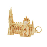 Vintage St. Patricks Cathedral Stanhope 14k Gold Charm
