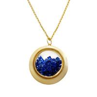 Blue Sapphire 18k Gold Shaker Necklace