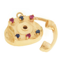 Vintage Gem Telephone 14k Gold Charm