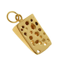 Swiss Cheese 14k Gold Charm