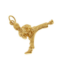 Karate Kid 14k Gold Charm