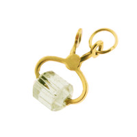 Vintage Crystal Ice Tongs 14k Gold Charm