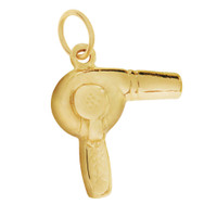 Hairdryer 14K Gold Charm