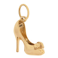 Stiletto Heel 14k Gold Charm