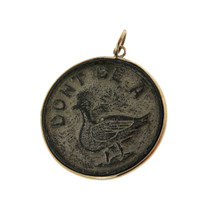 Vintage Dont Be A Duck 14K Gold Charm