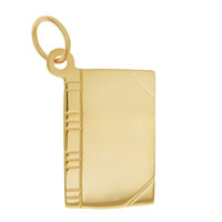 Book 14K Gold Engravable Charm