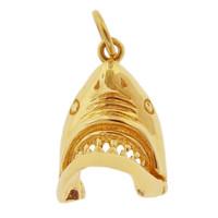 Shark 14K Gold Charm