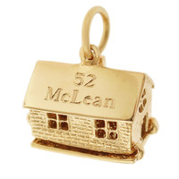 House 14K Gold Movable Charm