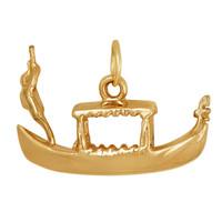 Venetian Gondolier 14K Gold Charm