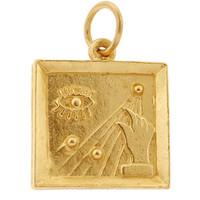 Modern Art 14K Gold Charm