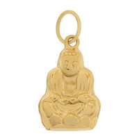 Buddha In Lotus 14k Gold Charm