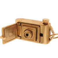 Vintage Movable Camera 14K Gold Charm