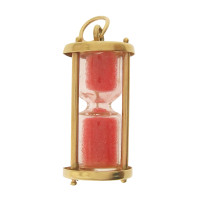 Vintage Pink Hourglass 14k Gold Charm