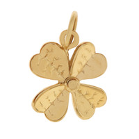 Four Leaf Lucky Clover 14K Gold Charm