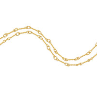 """Alice"" Twisted Link 14k Gold Charm Necklace"