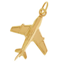 Airplane 14k Gold Charm