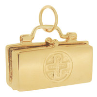Doctor's Bag with Stethoscope 14K Gold Movable Charm