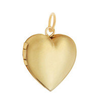 Petite Engravable Heart Locket 14K Gold Charm