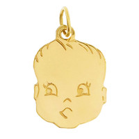 Baby Face 14k Gold Charm
