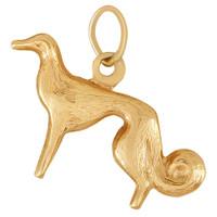 Vintage Dog - Afghan Hound 14k Gold Charm