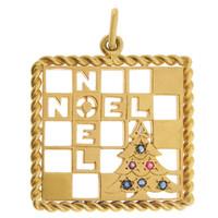 "Vintage Tiffany & Co ""Noel"" 14K Gold Charm"