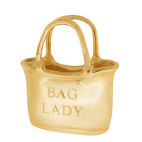 Monogram Tote Bag 14K Gold Charm