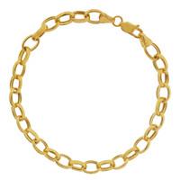 """""""Lauren"""" 14k Gold Charm Bracelet"""