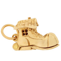 Old Woman in the Shoe 14K Gold Movable Charm