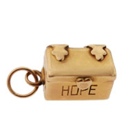 Vintage Hope Chest with Man 14k Gold Charm