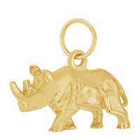 Rhinoceros 14K Gold Charm