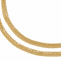 """Olivia"" Triple Link 14k Gold Charm Necklace"