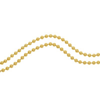"""Lara"" Ball Chain 14k Gold Charm Necklace"