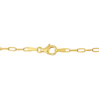 """Riley"" Oval Link 14k Gold Charm Necklace"